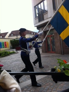 Sweden's flag was everywhere that day.