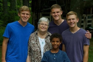 Grandma and her boys!