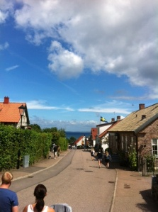 The walk into Bastad.
